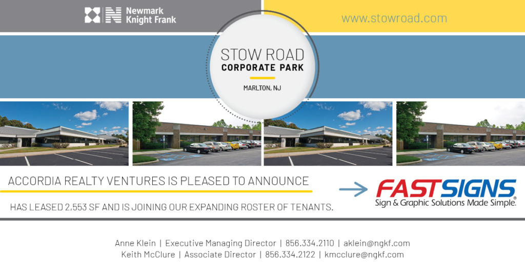 Accordia Realty Excited to welcome SHEEX to Stow Road Corporate Park in Marlton, NJ!